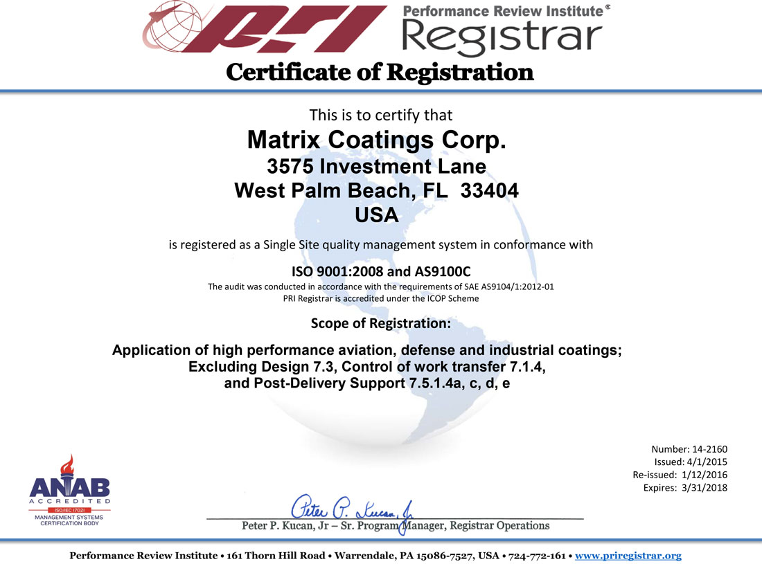 Quality assurance matrix coatings industrial coating service it is our goal to exceed your quality expectations contact us today to find out how matrix coatings can meet your coating requirements 1betcityfo Image collections